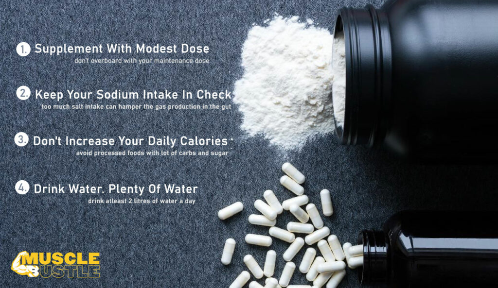 Steps to follow in order to avoid creatine bloating